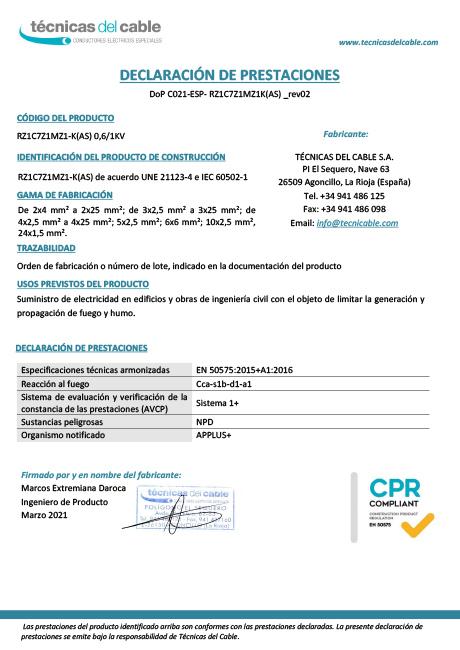 Certificacion CPR de Técnicas del cable